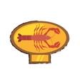 lobster sealife exotic food golden emblem vector image vector image