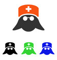 medical nurse head flat icon vector image vector image