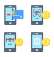 mobile payment icon set 2 payment related vector image