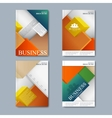 Modern set of brochures in the business vector image