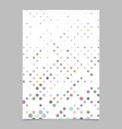 multicolored dot pattern brochure background vector image vector image