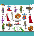 one a kind game for children with halloween vector image vector image