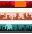 panorama of the cartoon city set vector image