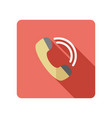 phone handset icon vector image vector image