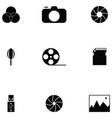 photographic equipment icon set vector image vector image
