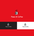 piano and coffee logo vector image vector image