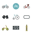 Race bike icons set flat style vector image vector image