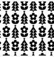 repetitive nordic christmas folk pattern vector image