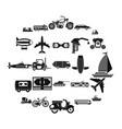 ride icons set simple style vector image vector image