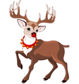 rudolf the red nosed reindeer vector image vector image