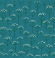 rustic seamless pattern with wildflowers vector image vector image