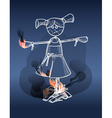 Scarecrow on fire vector image vector image