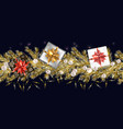seamless christmas and new year background vector image vector image