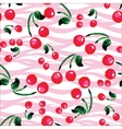 Seamless pattern with cherries Hand drawing vector image vector image