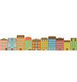 set modern multi-storey buildings residential vector image