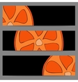 Set of banners with doodle oranges vector image vector image