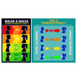set risk spread covid19 poster or mandatory vector image vector image