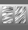 silver foil crumpled metal texture background vector image vector image