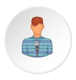 Singer icon flat style vector image