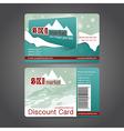 ski market card vector image