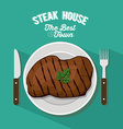 Steak House design vector image vector image