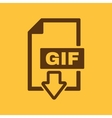 The GIF icon File format symbol Flat vector image