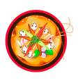 Tom Yum Goong or Thai Spicy Sour Soup with Prawns vector image vector image