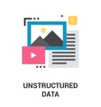 unstructured data icon vector image vector image