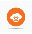 Upload from cloud icon Data storage sign vector image vector image