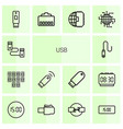 usb icons vector image vector image