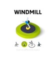 Windmill icon in different style vector image