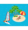 Windsurfer on a board for windsurfing Creative vector image vector image