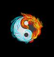 yin and yang vector image