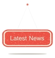 Latest news vector image