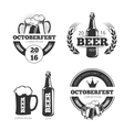 Vintage beer brewery emblems labels vector image
