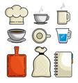 set of restaurant icon vector image