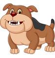 cartoon bulldog isolated on white background vector image