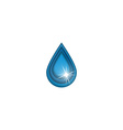 3D water drop logo sun shine mockup cleaning vector image
