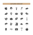 autumn icon set on a white background vector image vector image