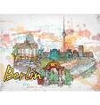 berlin doodles vector image vector image