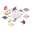 board games infographic isometric table vector image