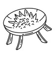 brazier set icon doodle hand drawn or outline vector image vector image