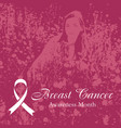breast cancer pink background vector image vector image