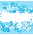 Bright blue background with snowflakes vector image vector image