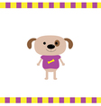 Cartoon dog boy card vector image vector image