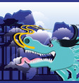 chinese culture dragon icon vector image vector image