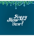 Christmas branches background vector image vector image