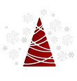 christmas tree holiday background with vector image vector image