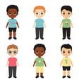 collection of happy boys collection of happy boys vector image vector image