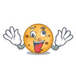 crazy oat cookie isolated with the cartoon vector image vector image